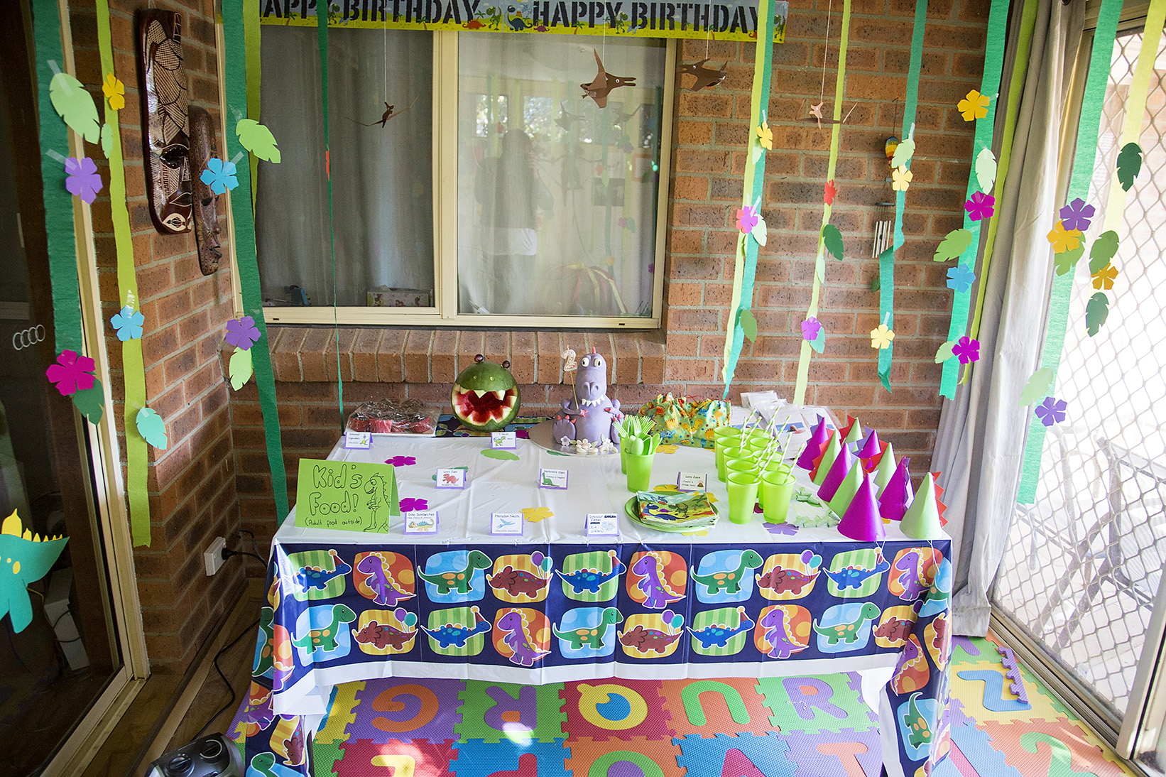 Candid Natural Kids Dino Birthday Party Portraits 02.jpg