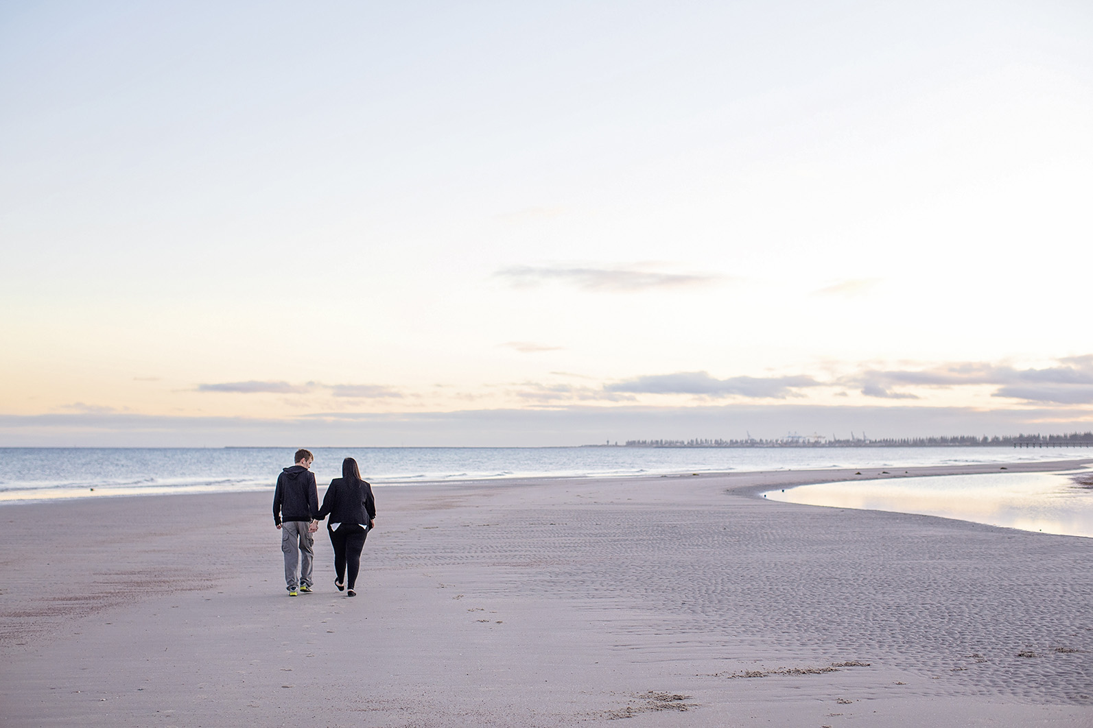 Semaphore Sunrise Beach Engagement Photos 01.jpg