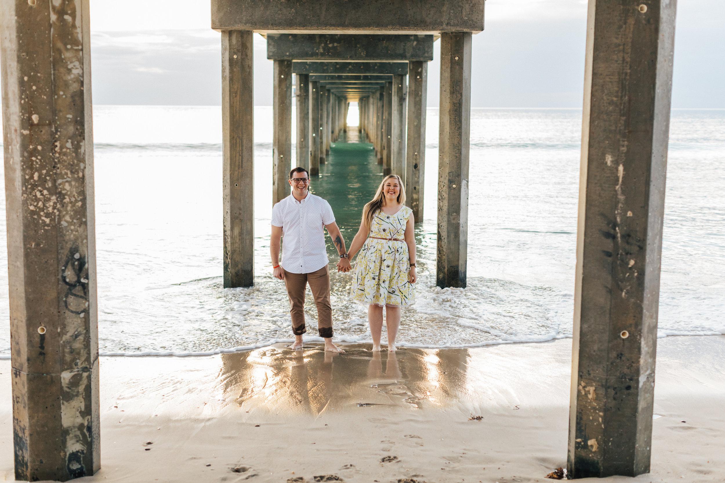 Fun Brighton Beach Sunset Engagement.jpg