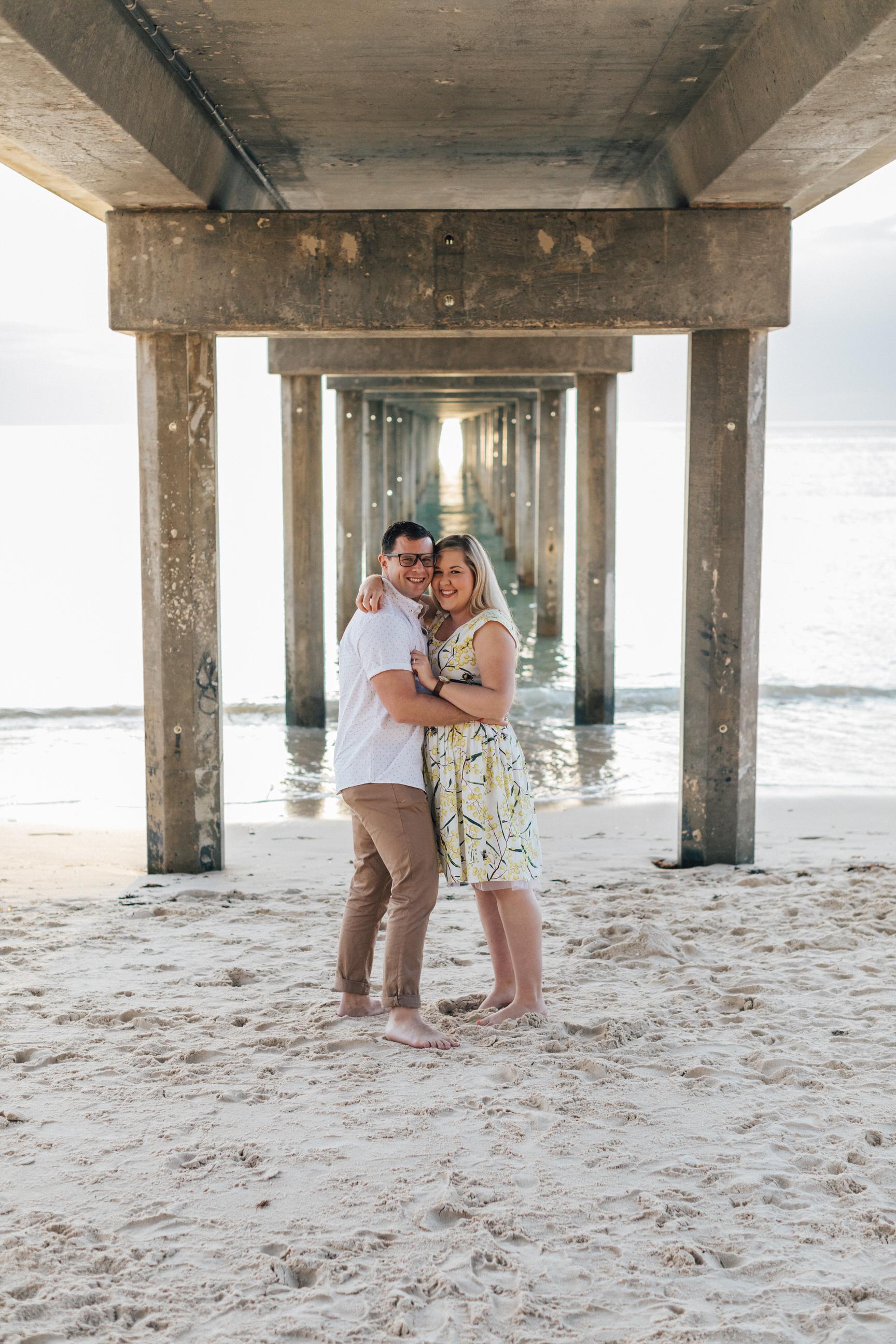 Fun Brighton Beach Sunset Engagement 001.jpg