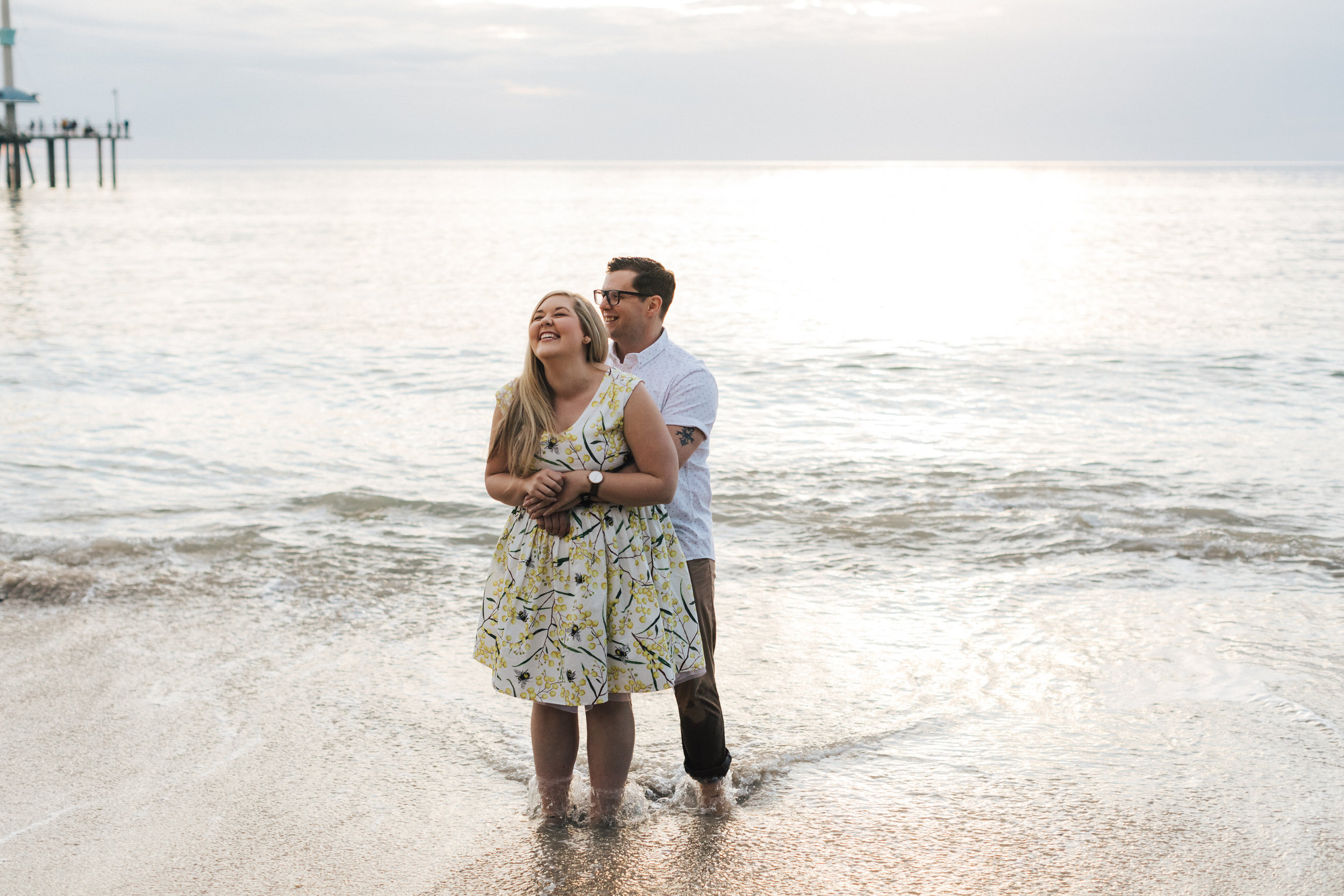 Fun Brighton Beach Sunset Engagement 009.jpg
