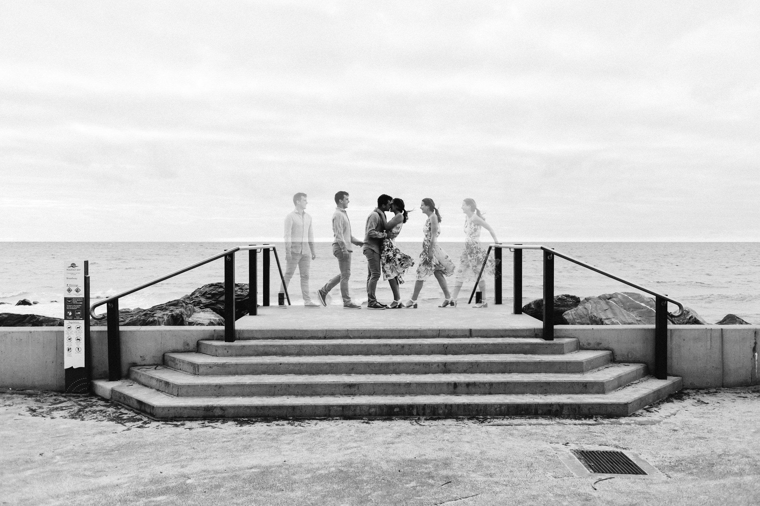 Stormy Summer Glenelg Beach Engagement Portrait 001.jpg