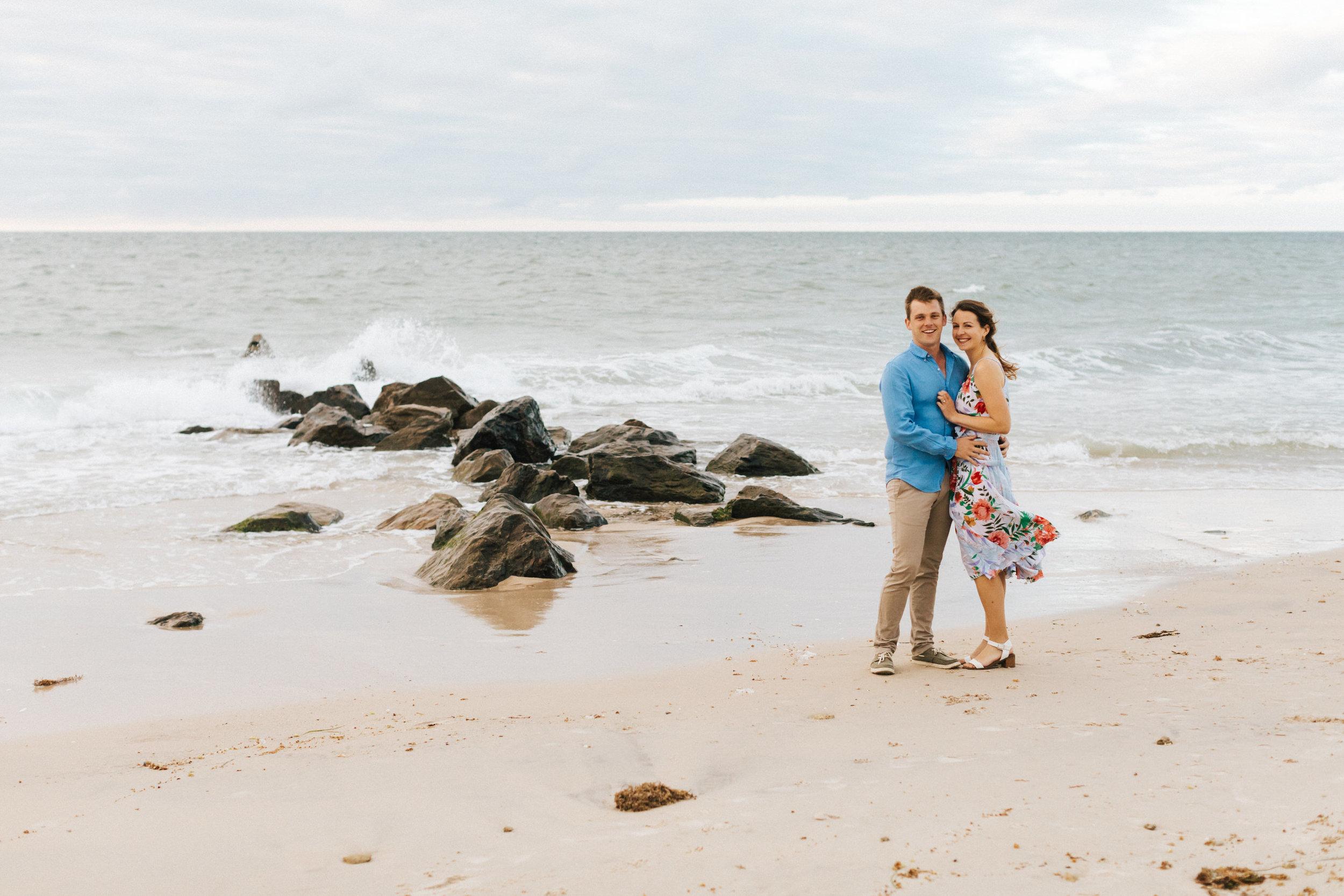 Stormy Summer Glenelg Beach Engagement Portrait 003.jpg
