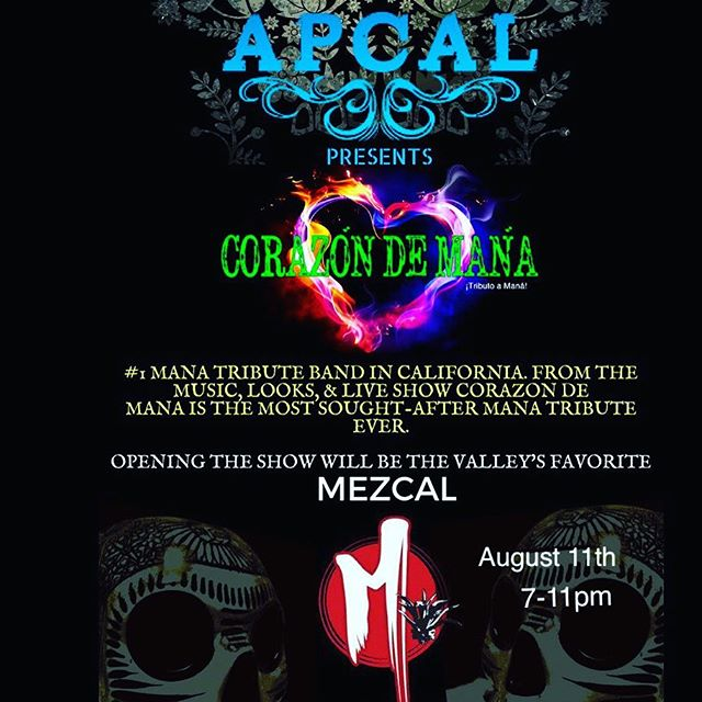 Looking forward to performing at @apcalwine for the first time along side @corazondemana !!#rocklatino #cumbia #mezcalmusic