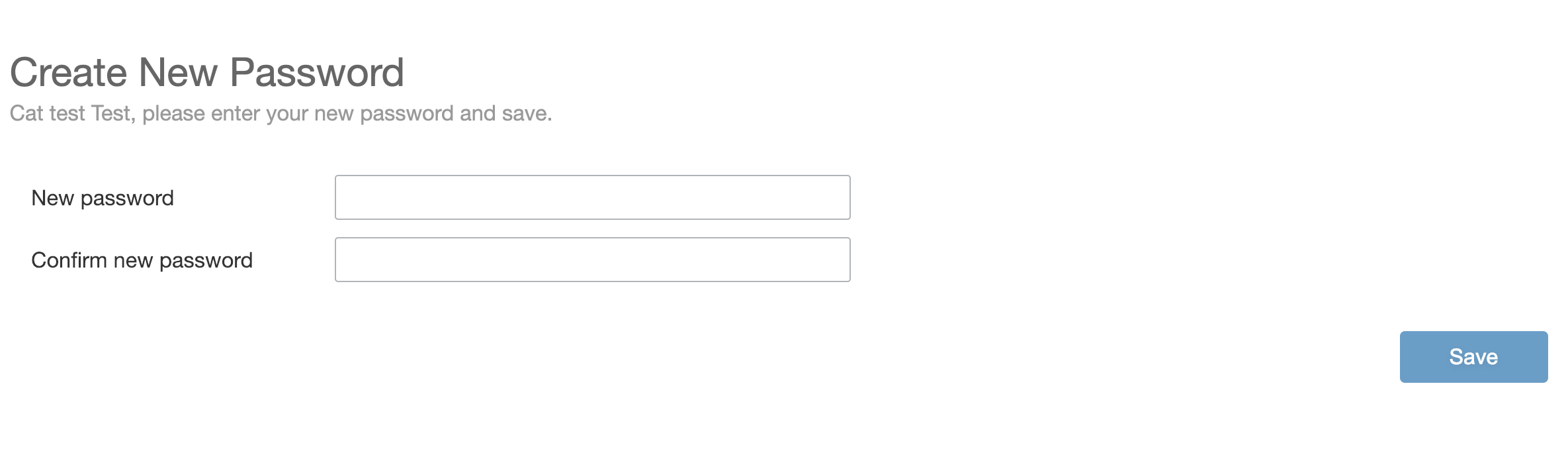 - Make-up and enter a password, click save.