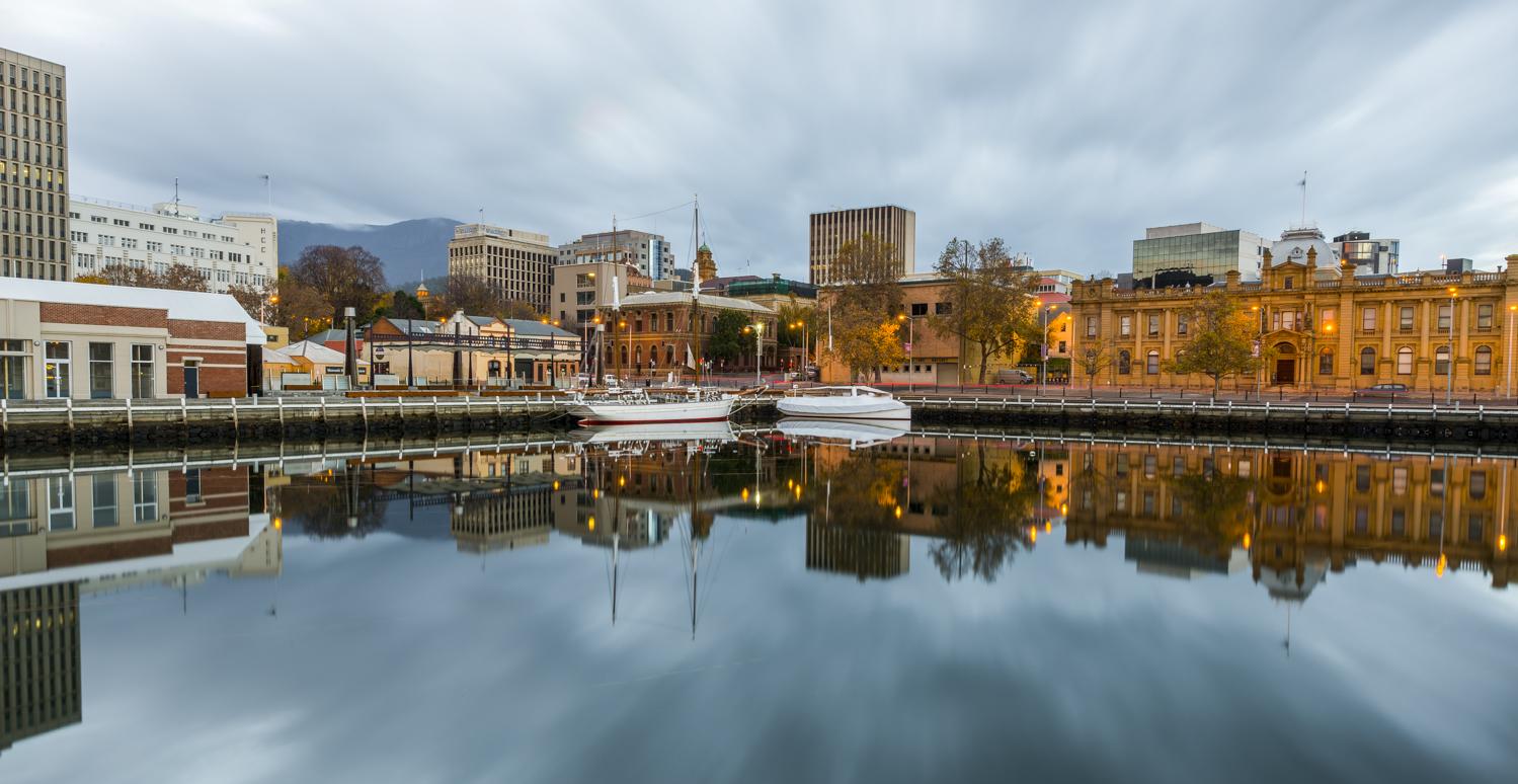 Moody Hobart Waterfront - Tasmania - Wilkography