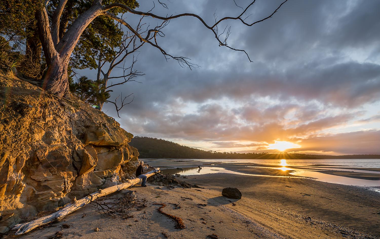 Daniels Bay Sunset - Bruny Island - Tasmania - Wilkography