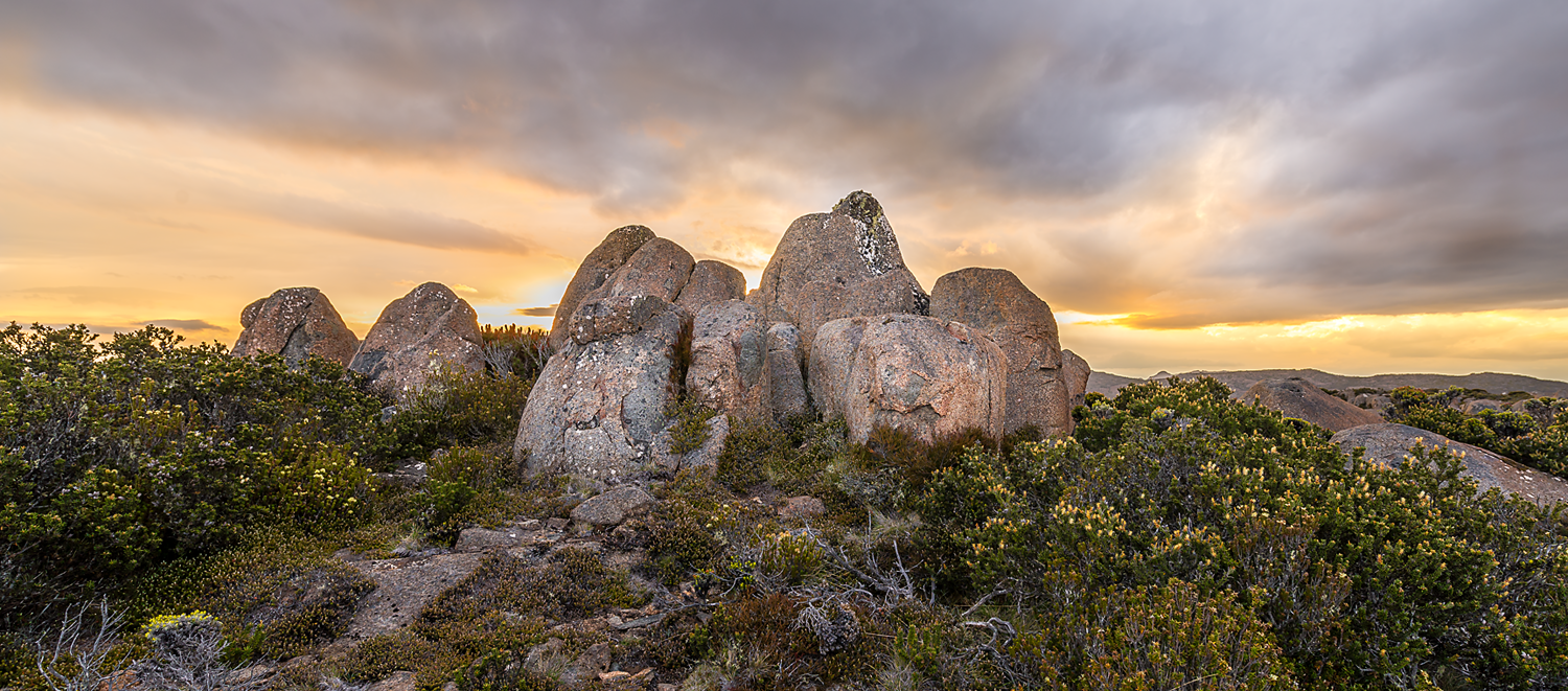 Igneous Sunset - Mt Wellington / kunyani - Tasmania - Wilkography