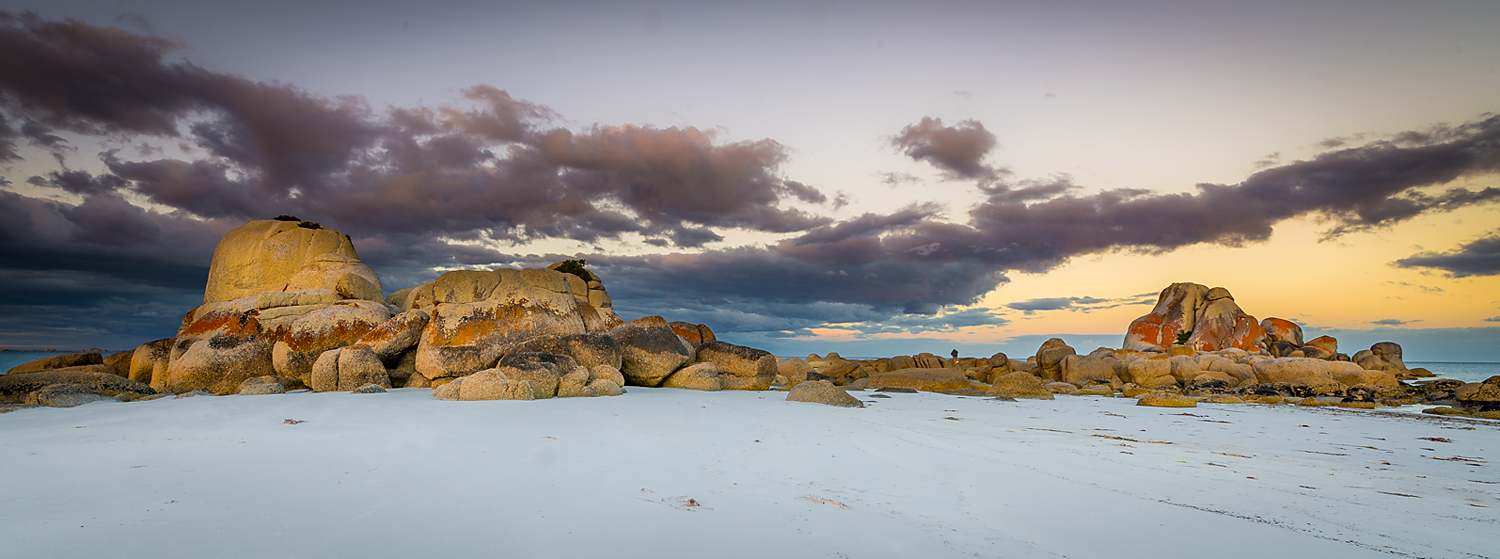 Picnic Rocks Sunset - East Coast Tasmania - Wilkography