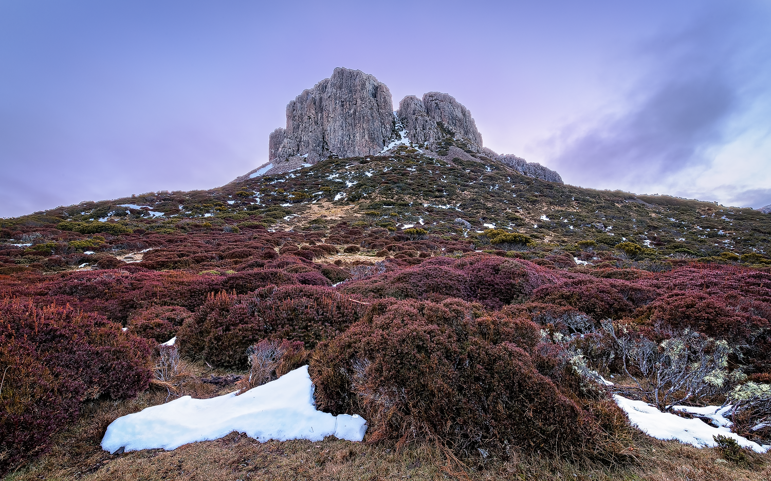 Solomon's Throne - Blue Hour - Walls Of Jerusalem - Tasmania - Wilkography