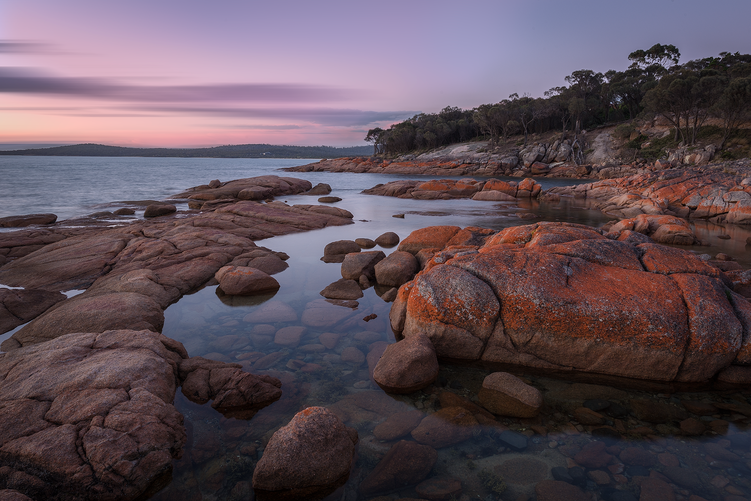 Coles Bay Sunset - Wilkography - Tasmanian Phototgraphy