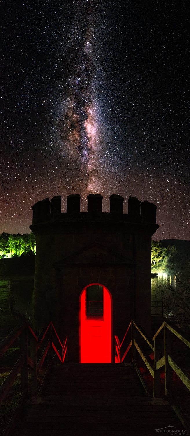 The Guard Tower & Galactic Core Vertical Pano #5