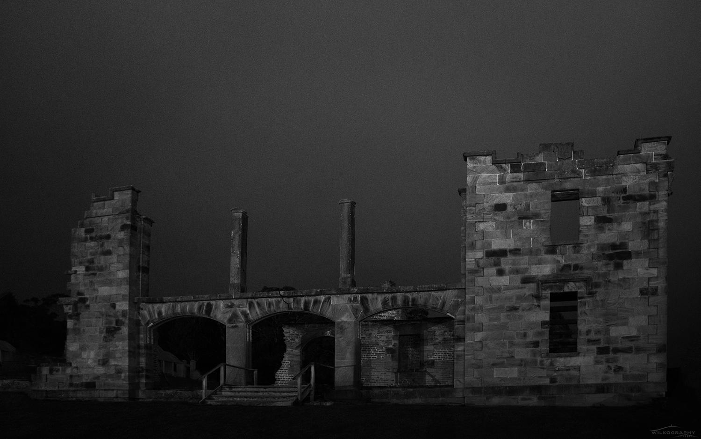 The Hospital Overcast B&W  #9