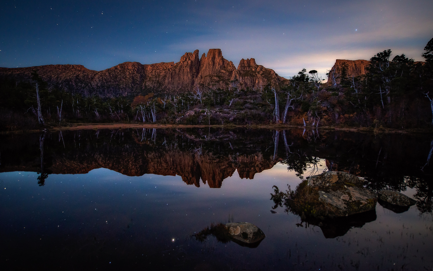 Tasmanian Photography - Reflecting On Memories Blue Hour - WILKOGRAPHY.jpg