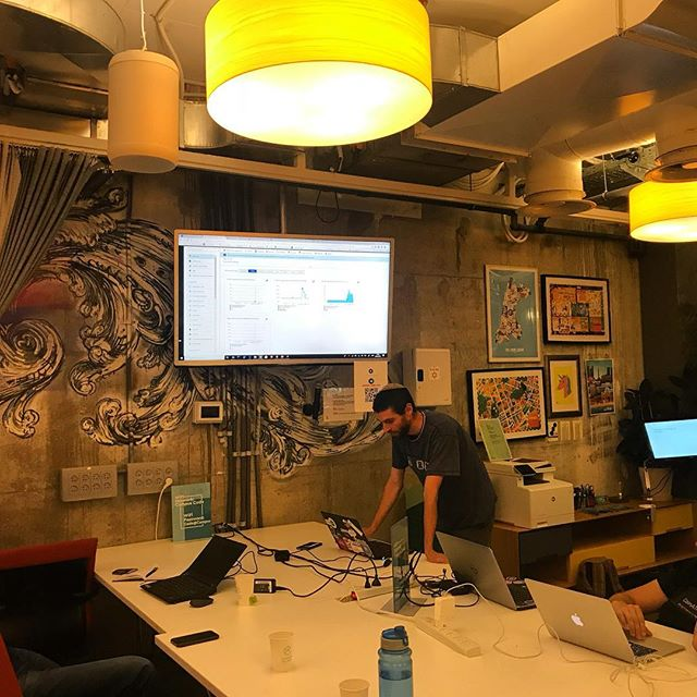 From our successful  #Callofcoders event at @campustelaviv Aviad #CTO from GRTH on a #demo about integration #blockchain in an #enterprise and developing a secured #network.  #blockchainrevolution #blockchainisrael #token #ethereum #hyperledger #azure #cryptocurrency #ibm #microsoft #tbt