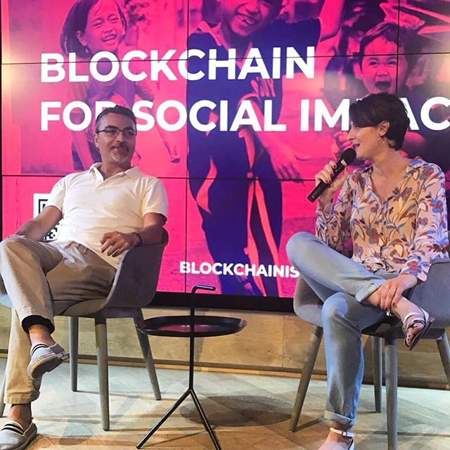 From our #prehackathon event #blockchainforsocialimpact at #TelAviv. Conversation between our founder and our friend @ourielohayon about how to create a sustainable  #token and make a successful #ICO. . #blockchainrevolution #blockchain #blockchainisrael #network #community #consciousness