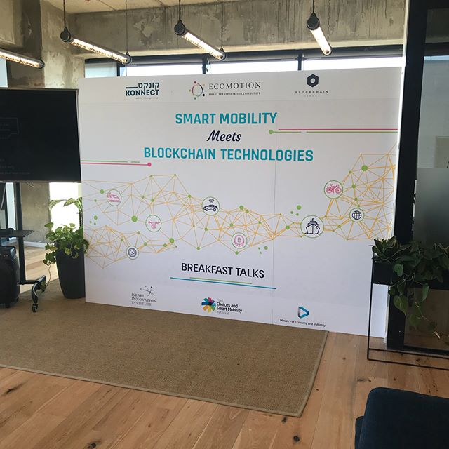 "Blockchain Israel x Ecomotion x Konnect by Volkswagen ""Smart Mobility meets Blockchain Technologies"" We'd like to thank @orliesd @netta_kaduri @hemdats for having us and for the amazing event and meetings. #blockchainisrael #blockchain #smartmobility #transportation #urban #ecomotion #TLV #DAV #thisishowwedoit #crypto #token #meetup #event #justdoit"