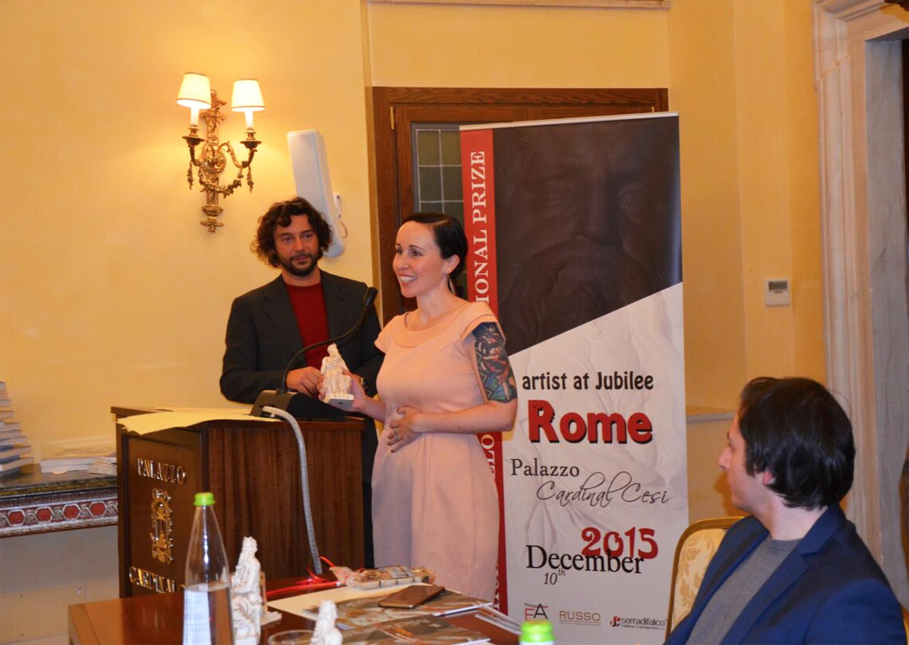 Speaking at the Michelangelo awards 2015.jpg