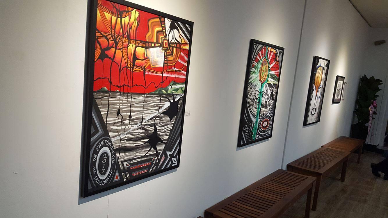S.Korea Jan 2017 Exhibition 'Shining light on what's Dark' Love our Earth .jpg