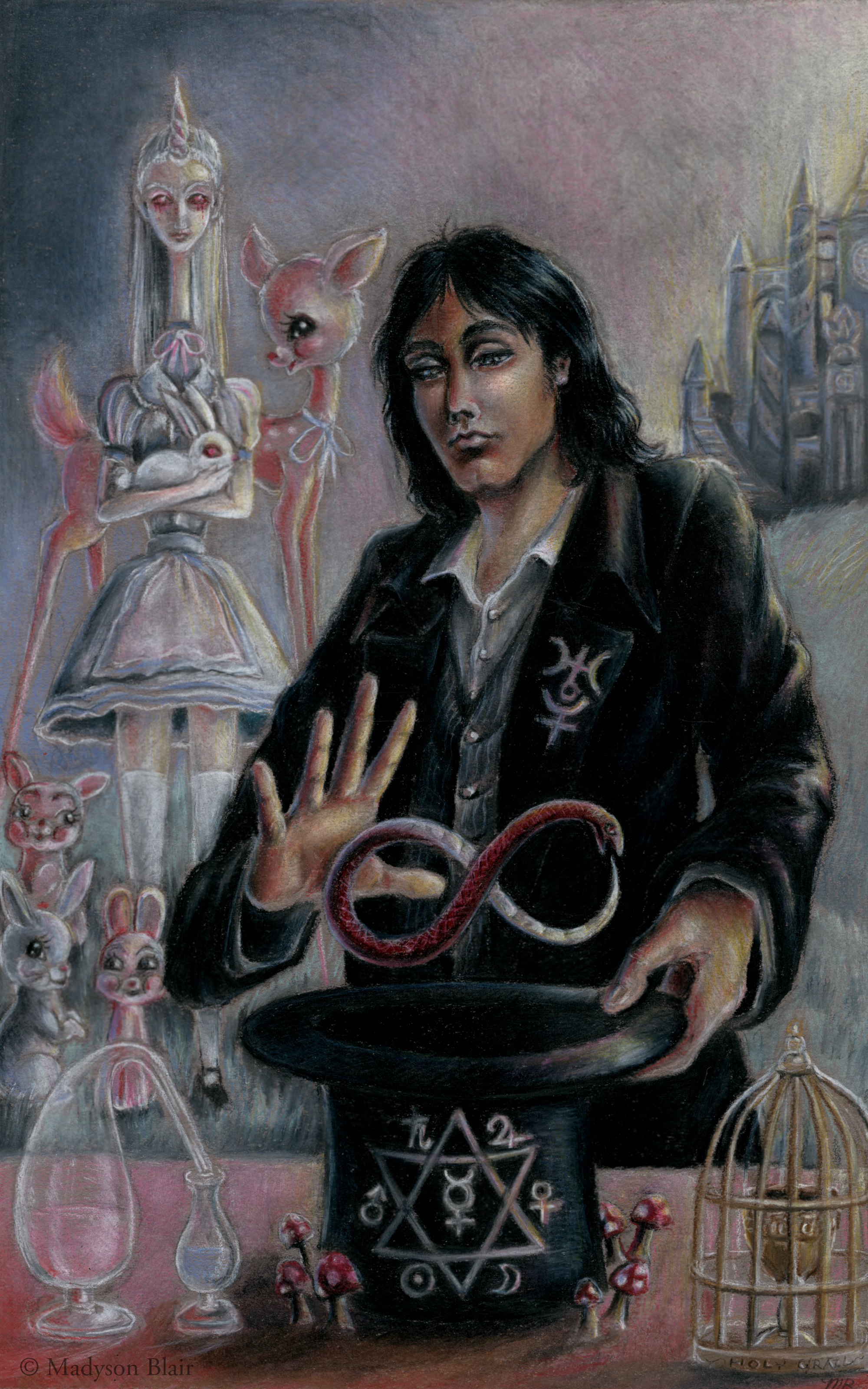 'The Magician'--Symbolic-driven portrait of Ervine, Alastair's grandson and a major character in Book II.