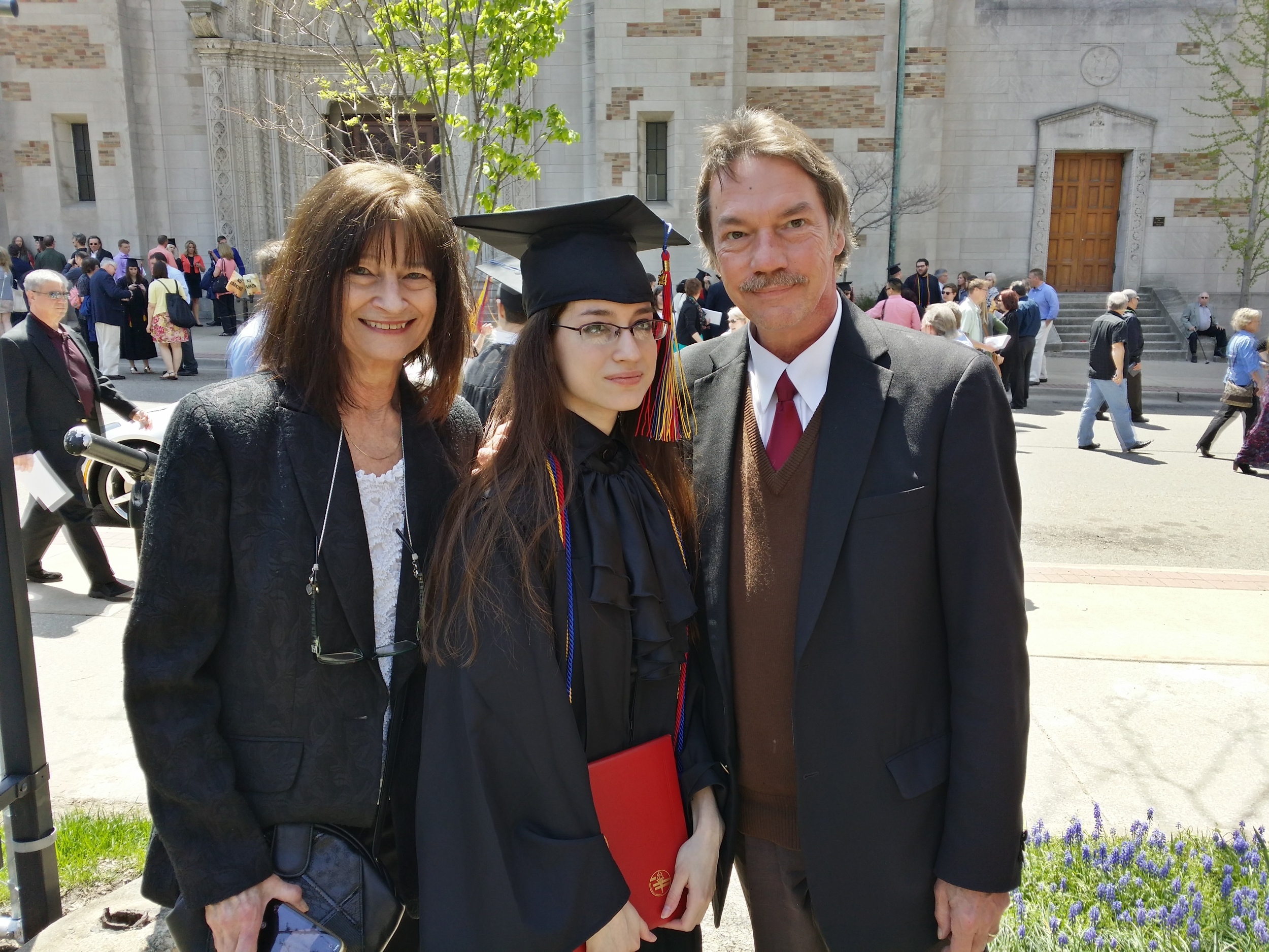 With my awesomely supportive parents