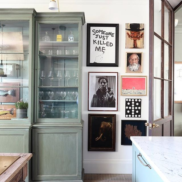 Part of the kitchen in my home featured yesterday in The Telegraph @telegraph @haminteriors @aliheath_uk @alexanderjamesphoto @thomaspaulcox #kitchendesign #eclecticdecor #art #tomhouseproperty #interiordesign