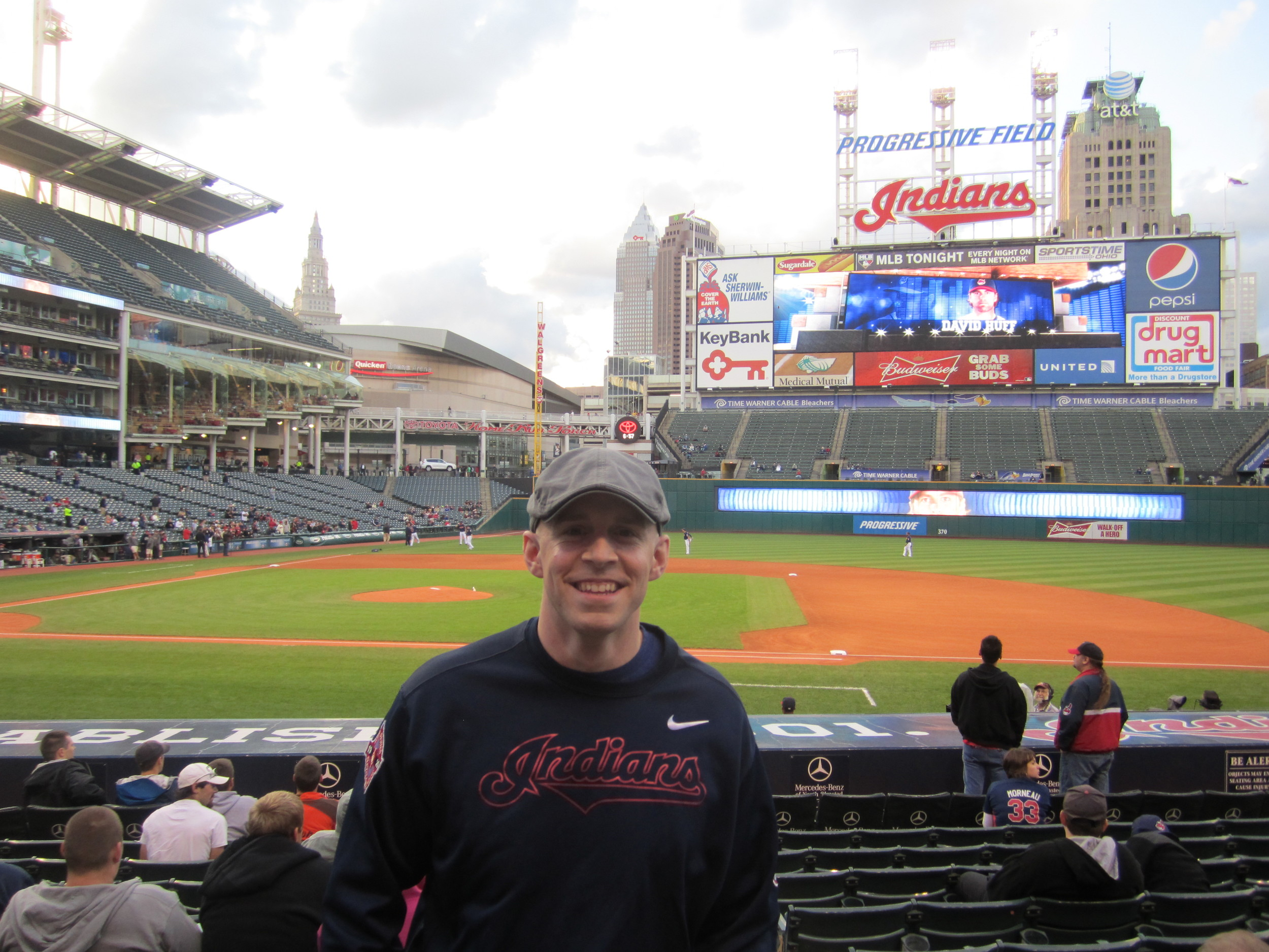 Mike attends Cleveland Indians baseball games annually as a way to feel close to his son.