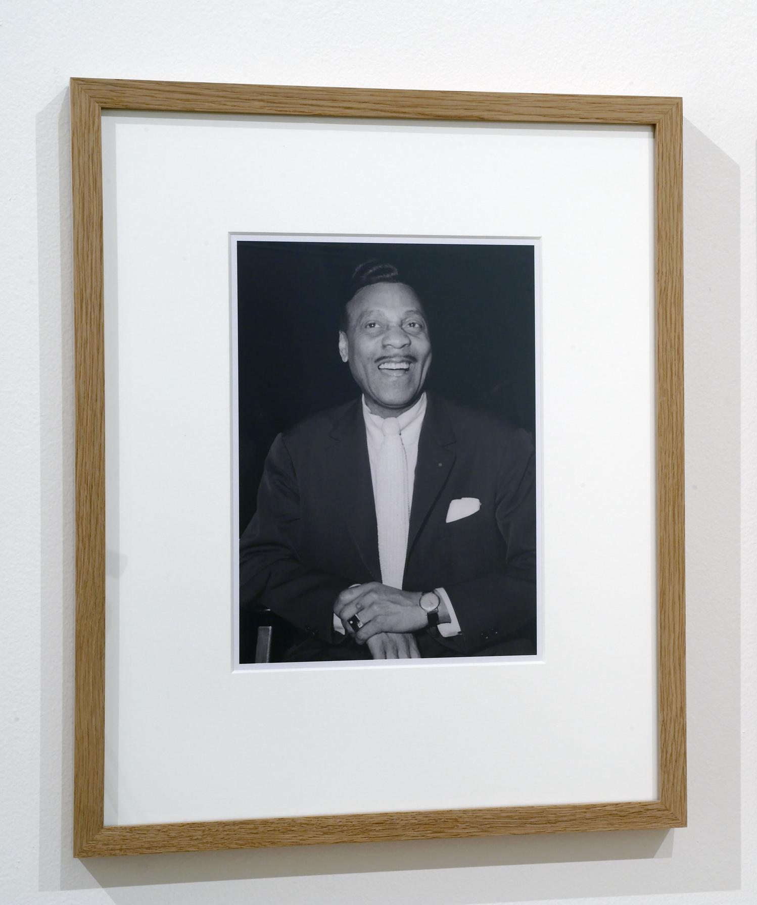 """Jacques Butler (portrait)"" digital print, 55 x 44 cm (Photo: Bernice Jacobsen, source: Norwegian Jazz archive)"