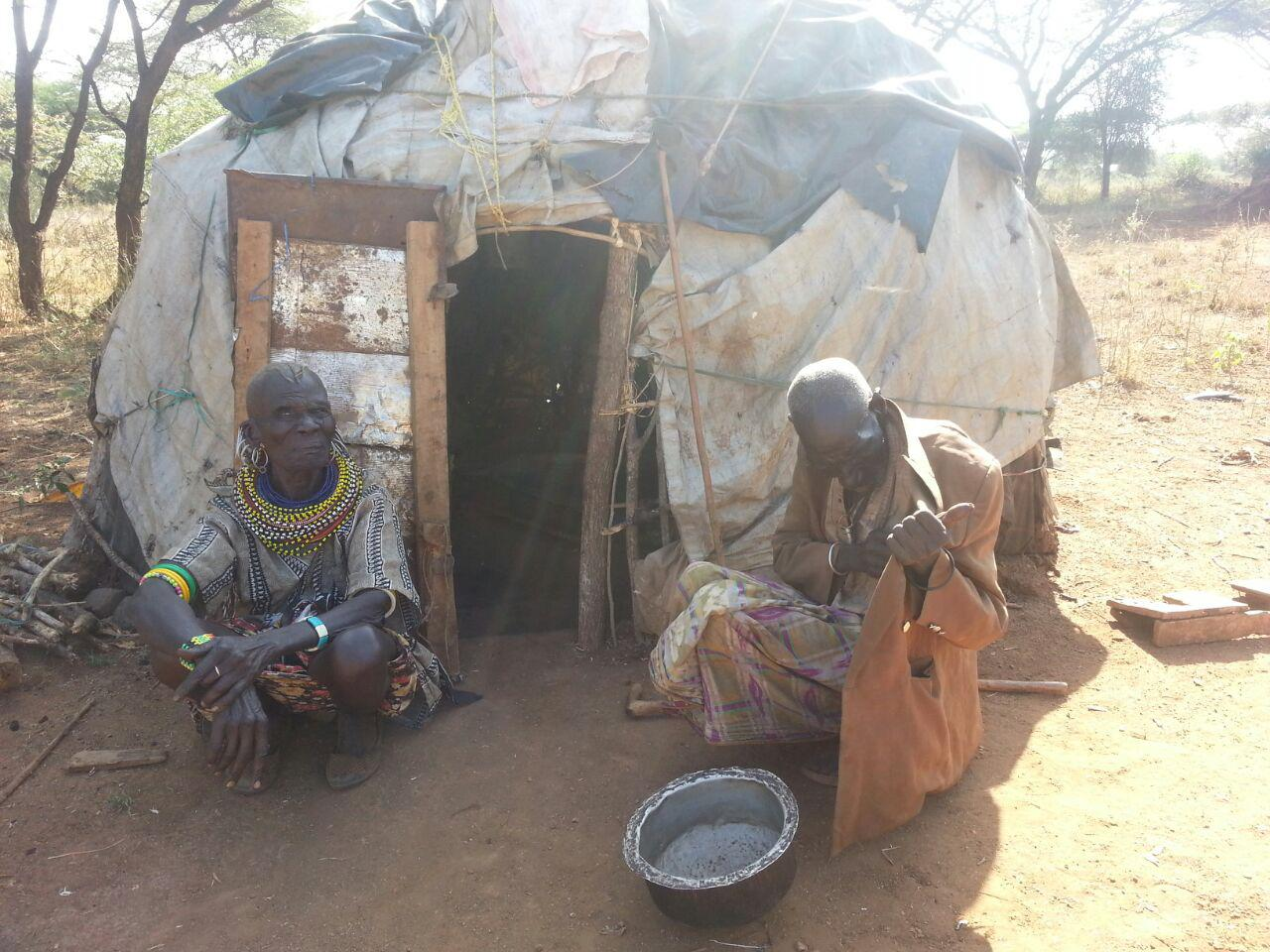 Husband and wife villagers from Attir, the Crossing's adpoted village in Kenya. Read their story in the newsletter!