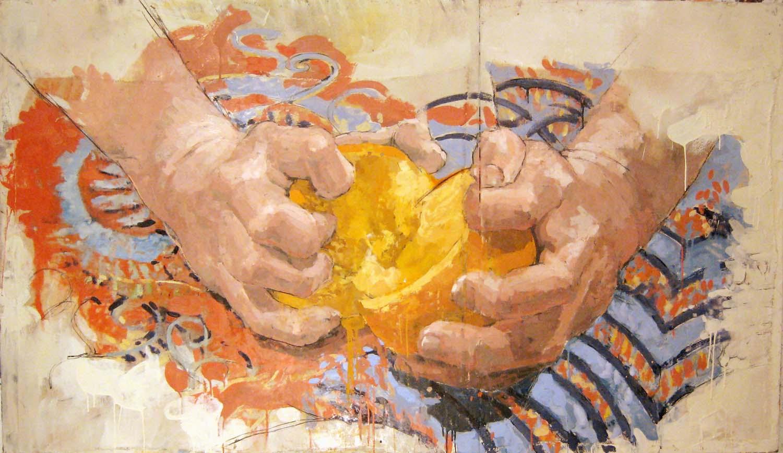 HANDS WITH ORANGE #3 (2007)