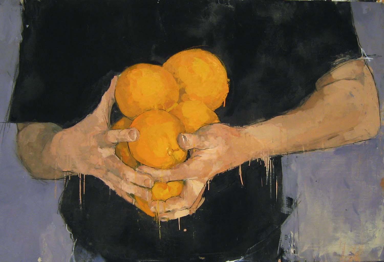 HANDS WITH ORANGE #2 (2007)