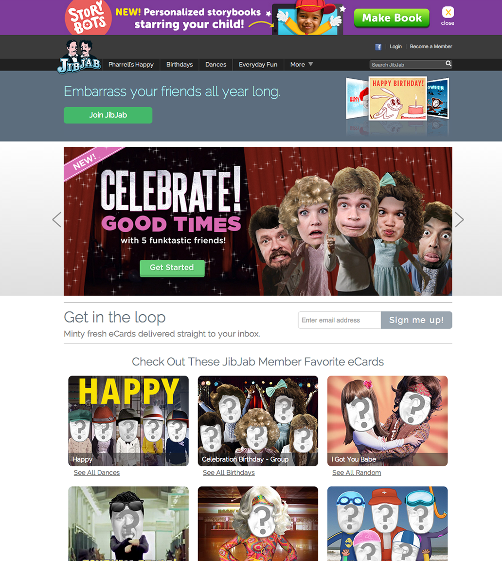 JibJab Homepage