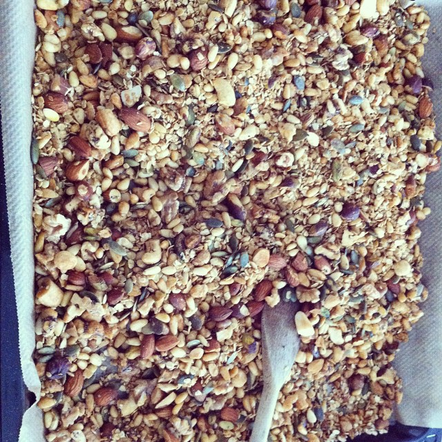 My very first #homemade #granola #healthyfood