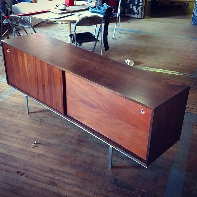 "Sample Sale.. 77"" Long. Big. Beautiful. The Top is a Single Piece and as nice as it gets... SOLID Mahogany Doors. Striking.  2250$ obo"