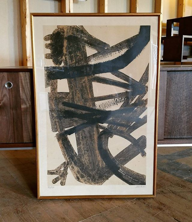 Pierre Soulages print. FOR SALE, 2700$