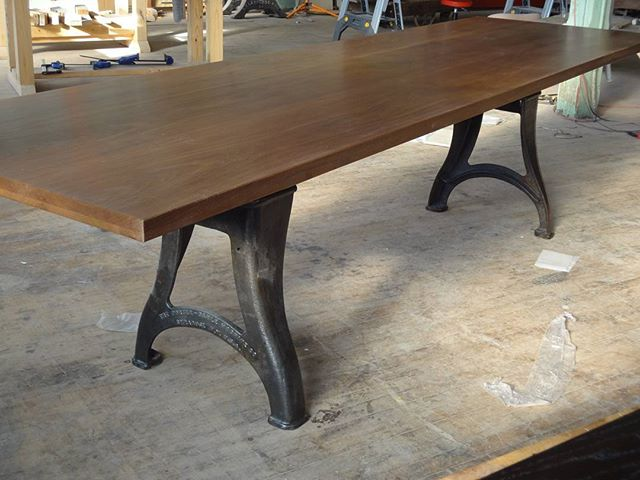 Giant custom table.. All Solid Walnut boards.
