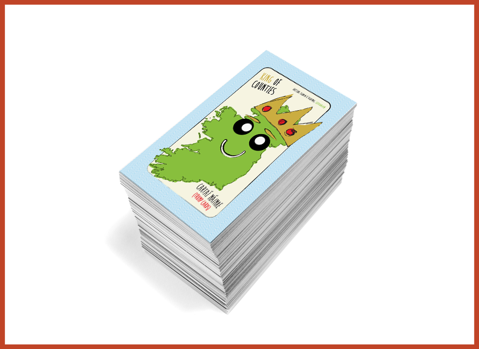 Playing Cards 'King of Counties', Design and Production
