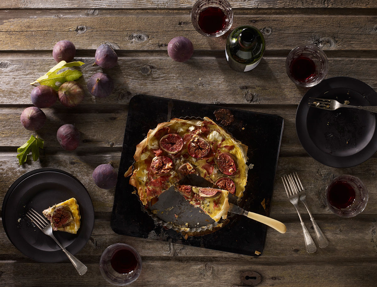 Fig and feta quiche