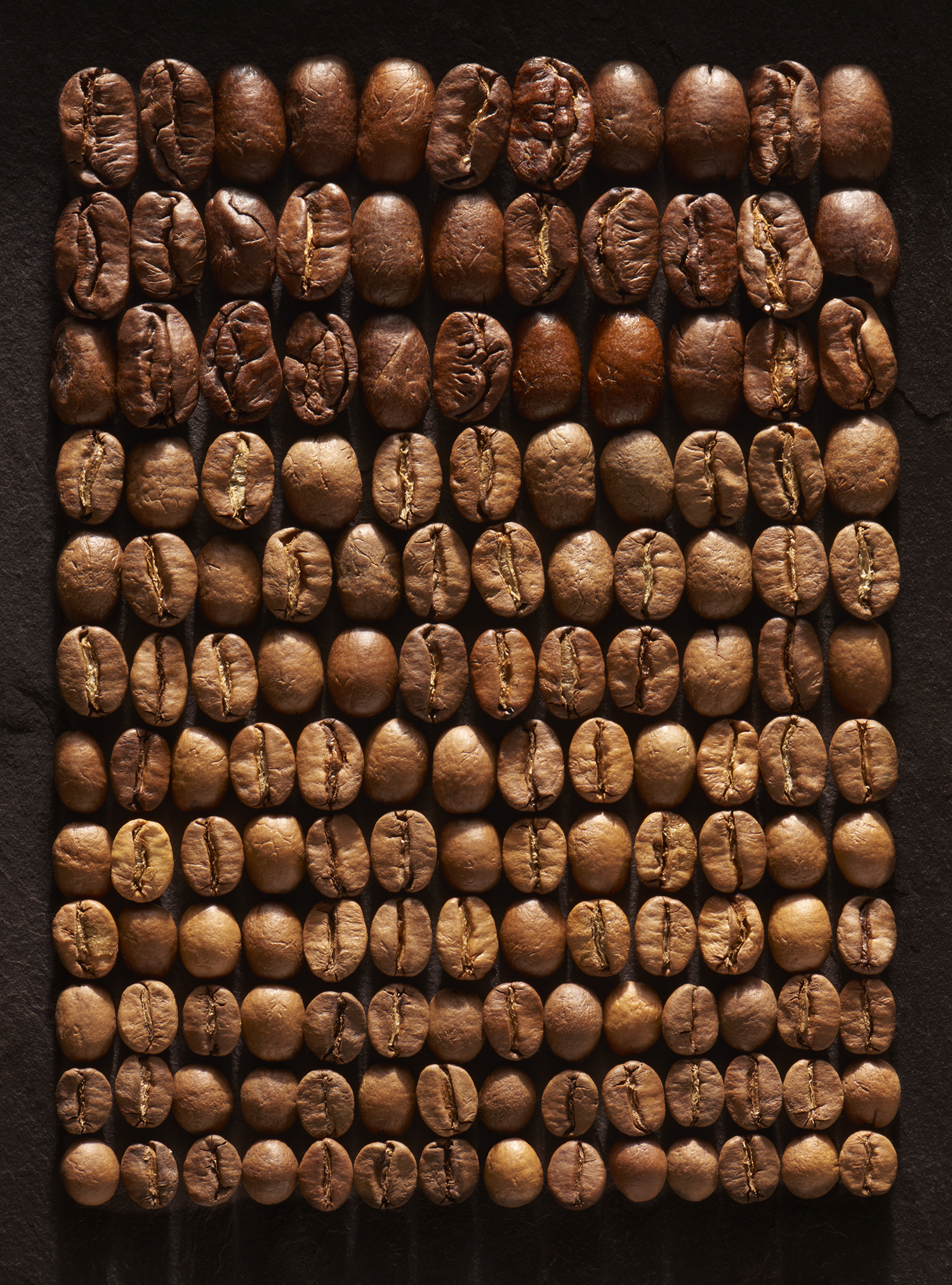 Graduated coffee beans