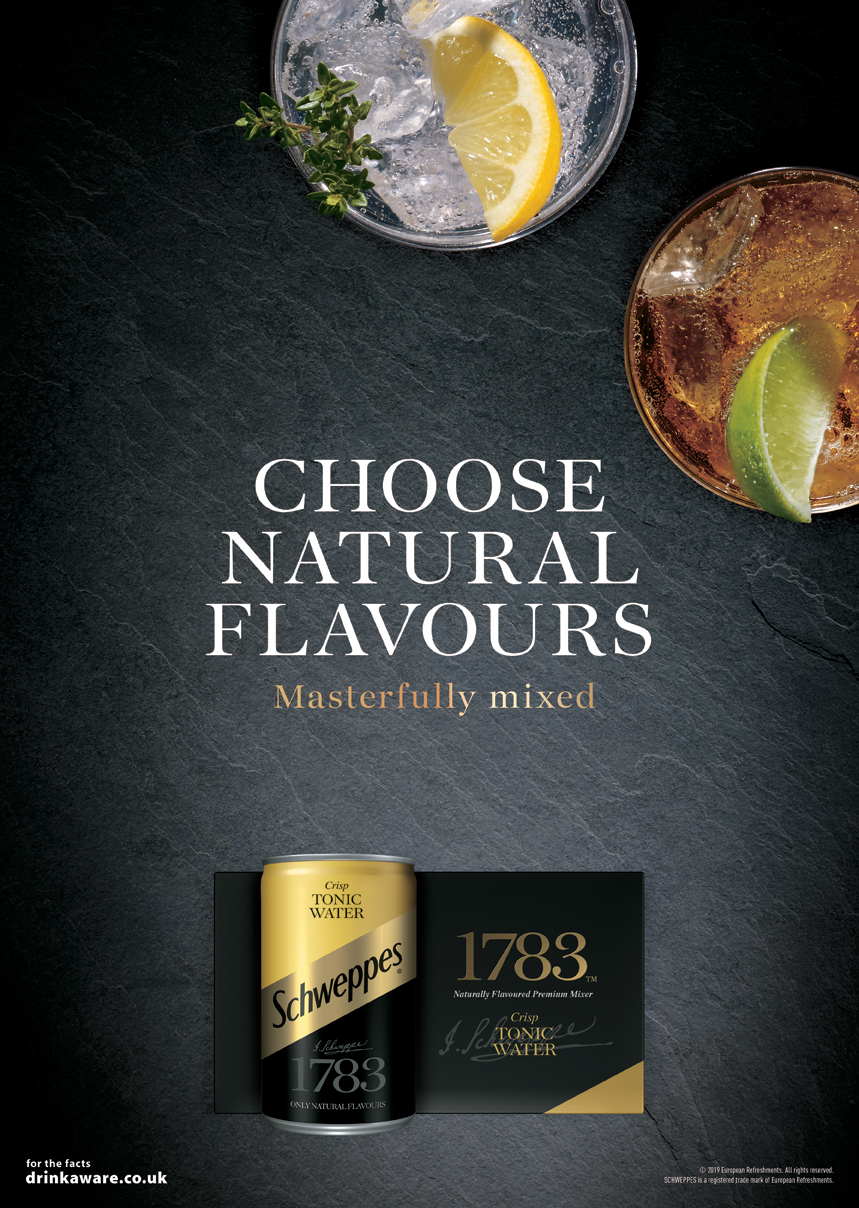 Schweppes Naturals Advertising.   Agency: Epoch Food Styling:Maud Eden