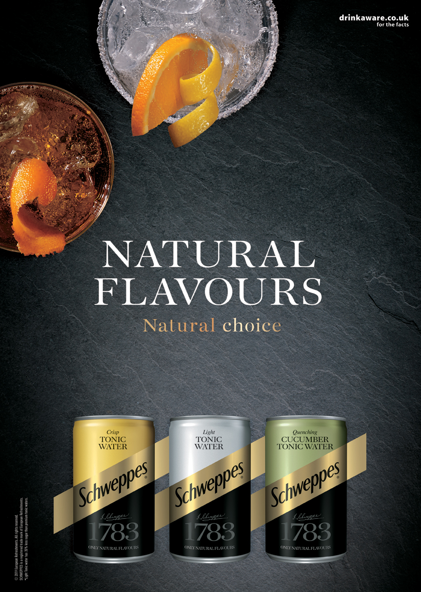 Schweppes Naturals Advertising.   Agency: Epoch Food Styling: Maud Eden
