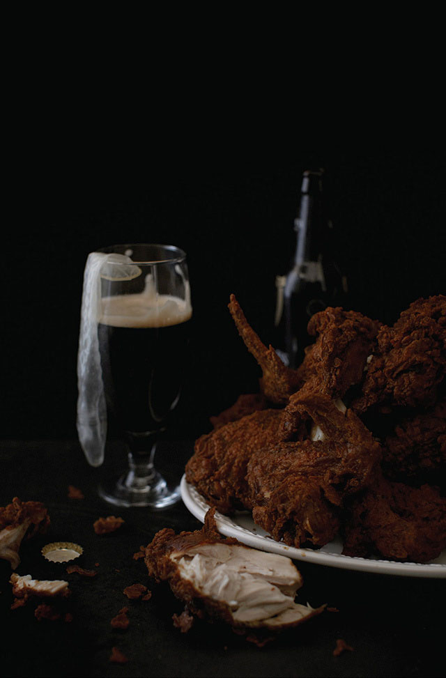 Busta Rhymes: Twenty-four pieces of fried chicken, Rough Rider condoms, Guinness.