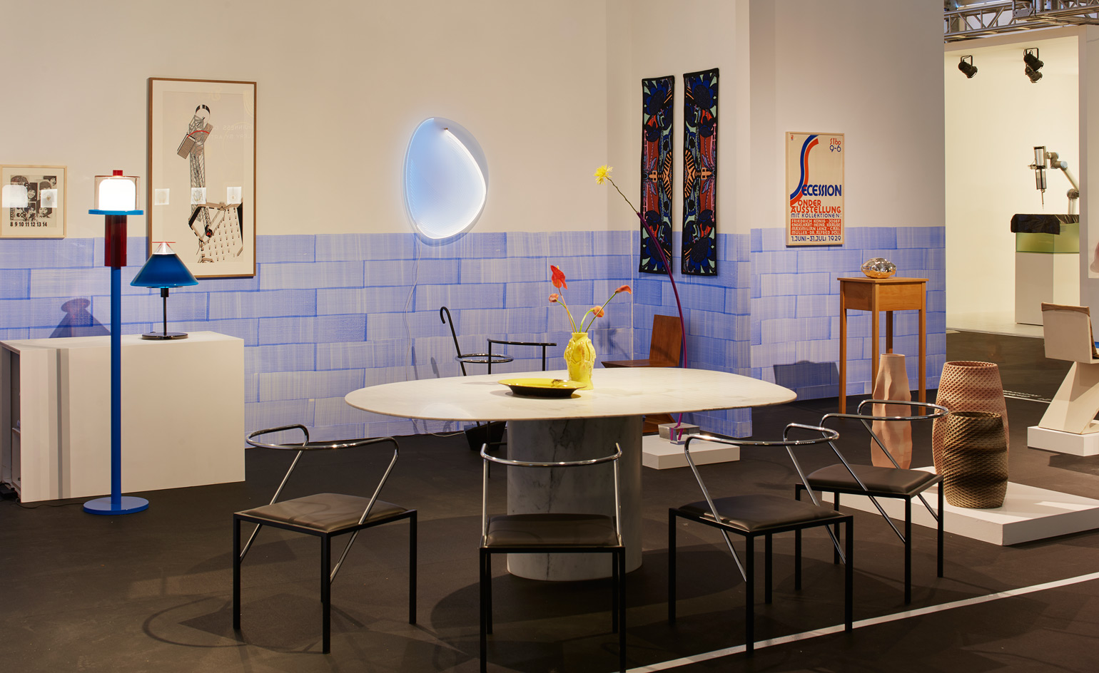 Rotterdam-based Galerie Vivid featured work by the likes of Sebastian Wrong, Ettore Sottsass and Olivier van Herpt this year. Highlights include Scholten & Baijing's geometric marble tables and Mies van der Rohe's 1923 'MR10' chair.