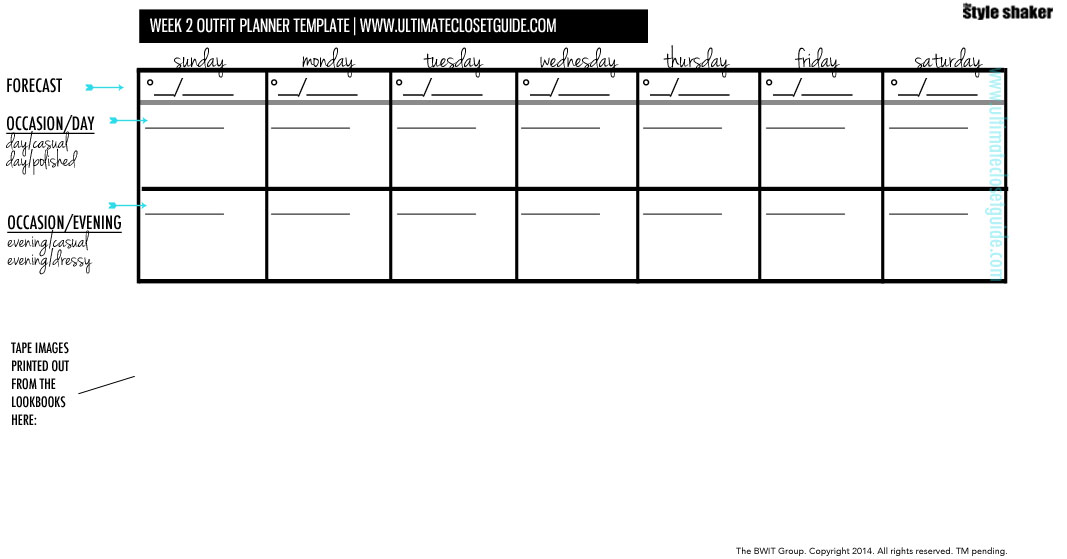 THIS IS THE TEMPLATE FOR YOU TO USE EVERY WEEK UNTIL YOU GET THE HANG OF IT. CLICK TO PRINT IN A NEW TAB.
