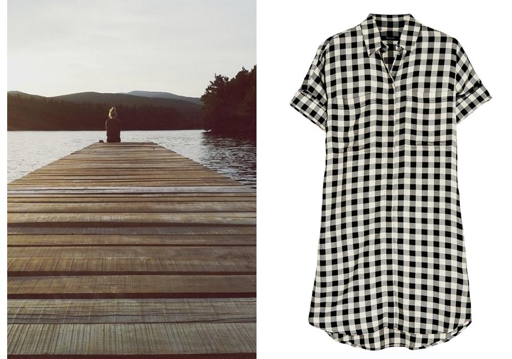 Right-  Madewell Shirt Dress
