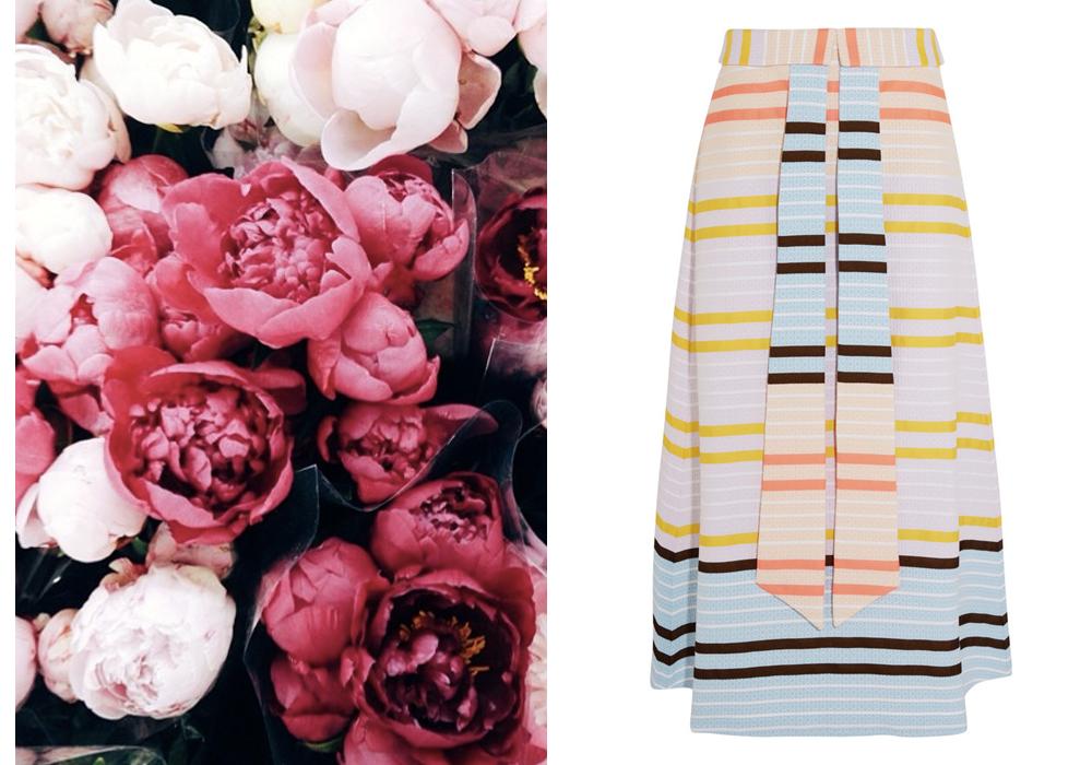 Right- Suno Midi Skirt