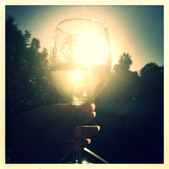 raise a glass. toast the winter light.