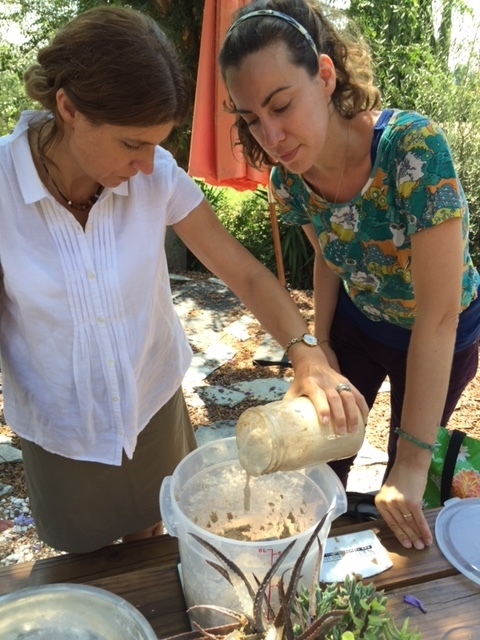 Making bread with Mary on a sunny Tuesday morning.