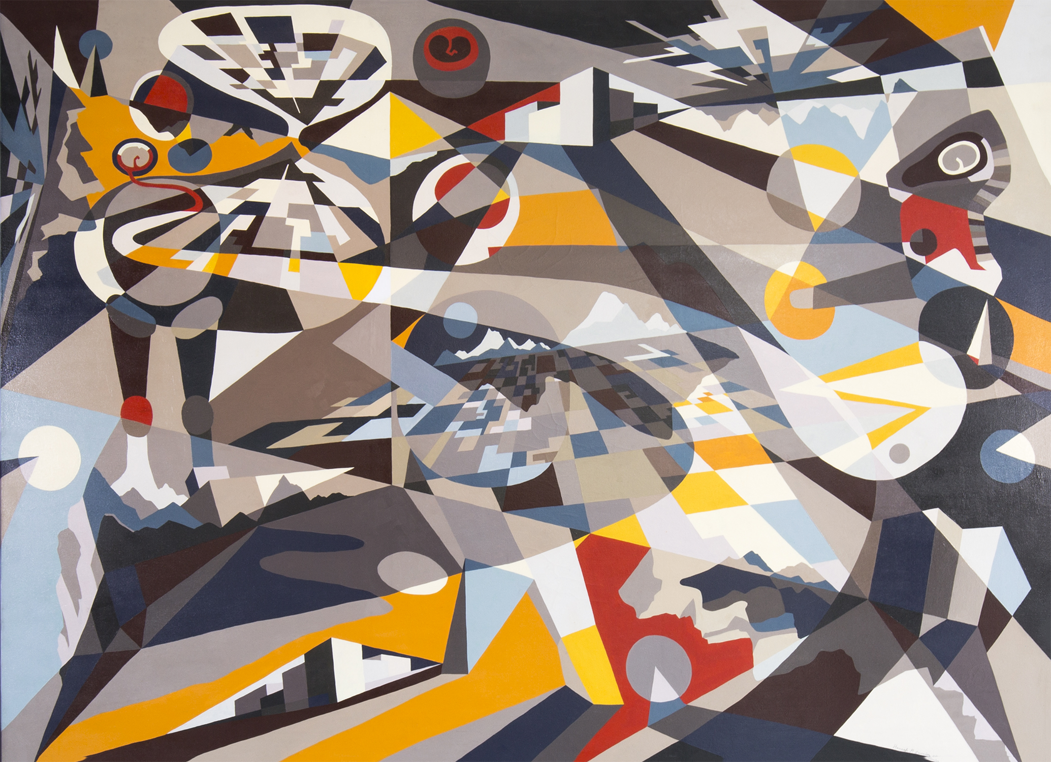 Shapeshifting  by Hannah Perry Saucier, 2014. Oil on canvas, framed. Image courtesy of the gallery.