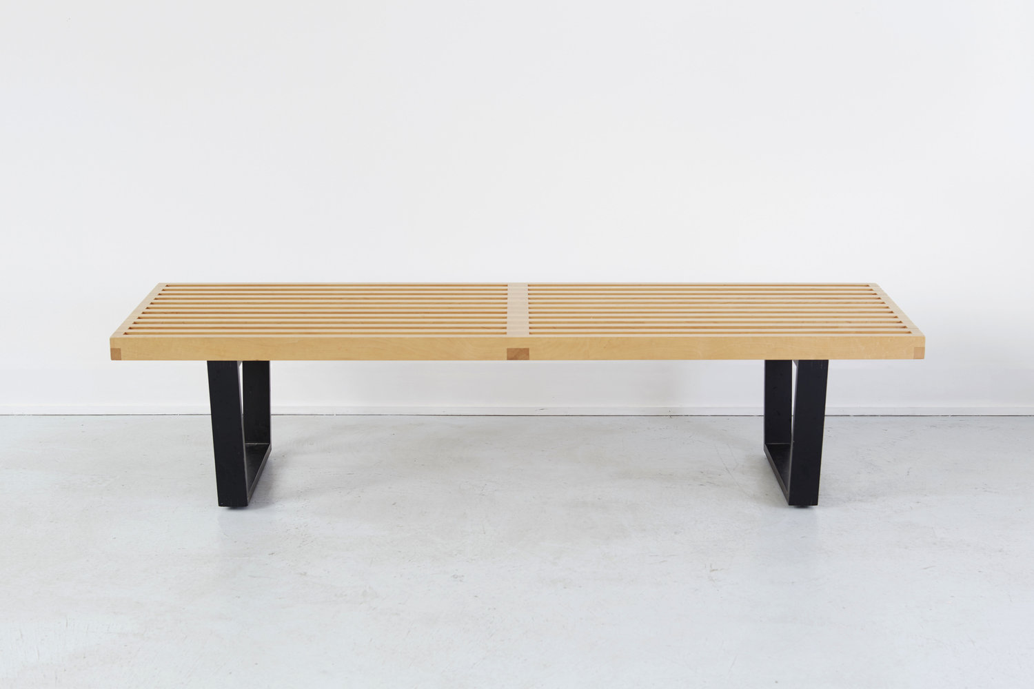 George Nelson's Platform Bench for Herman Miller. Photograph courtesy of the gallery.